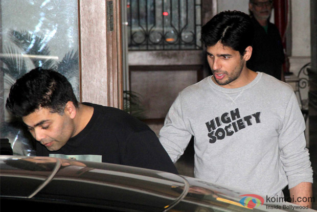 Karan Johar Spotted At Sidharth malhotra's House