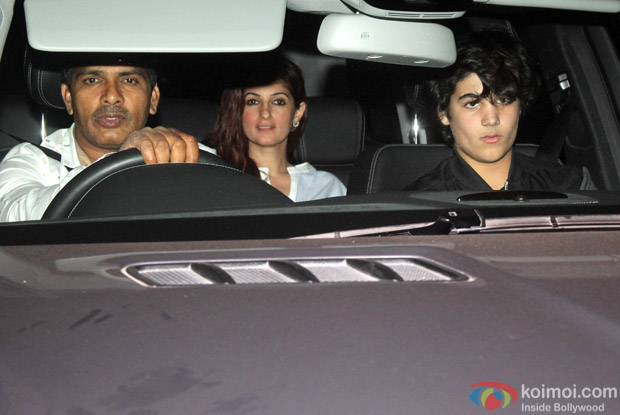 "Twinkle Khanna And Aarav Kumar During The Special Screening Of ""Airlift"""
