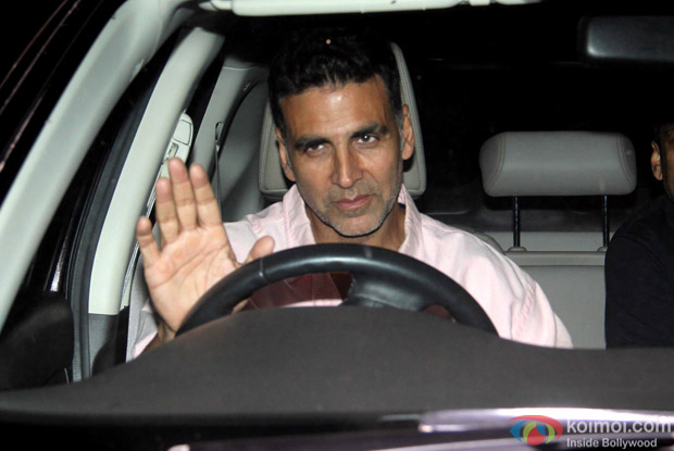 "Akshay kumar During The Special Screening Of ""Airlift"""