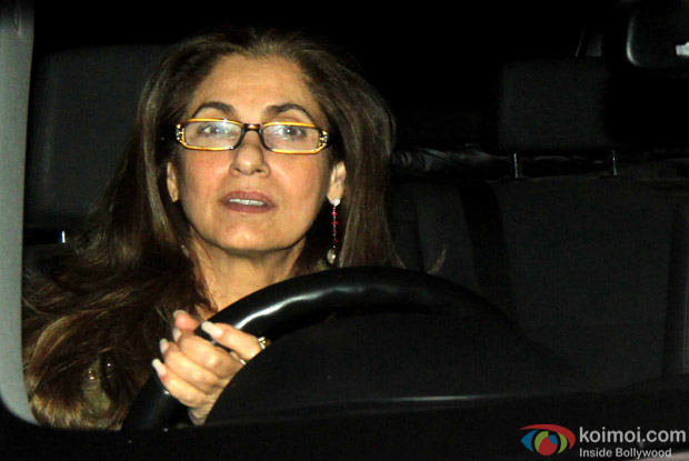 "Dimple Kapadia During The Special Screening Of ""Airlift"""