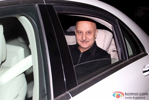 "Anupam Kher During The Special Screening Of ""Airlift"""