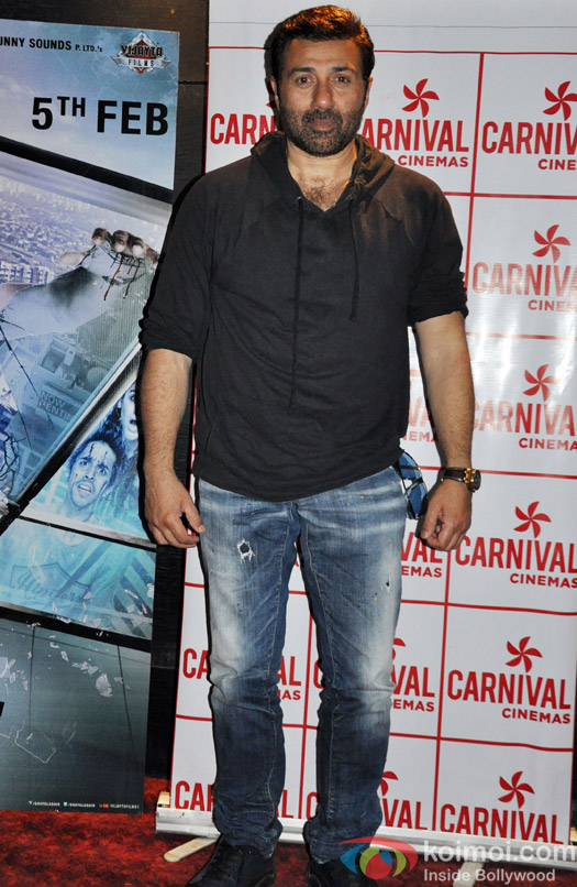 Sunny Deol During The Ghayal Once Again's Promotion In Ahmedabad