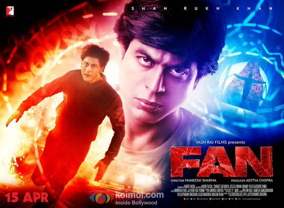 Fan Brand Poster : Catch Gaurav Aka Shah Rukh Khan's Intense Side
