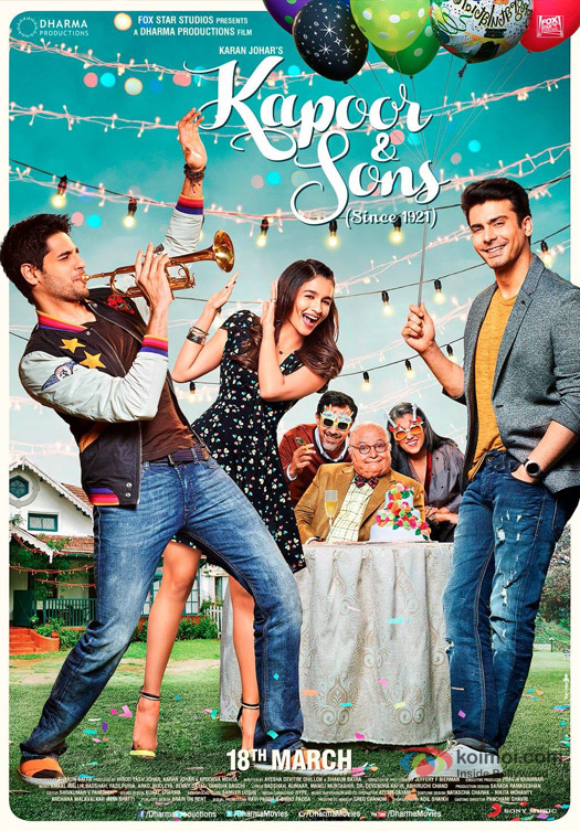 Kapoor And Sons Movie Poster 1