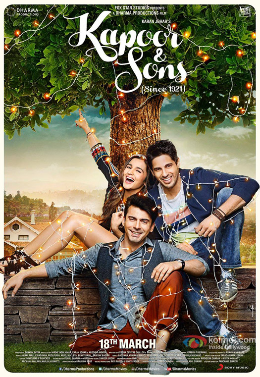 Kapoor And Sons Movie Poster 2