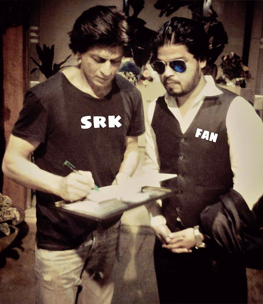 Shah Rukh Khan and Shahnawaz Khan
