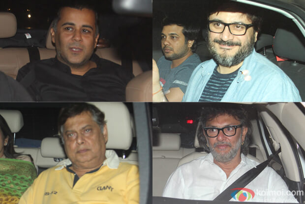 Chetan Bhagat,, Goldie Behl, Devid Dhawan and Rakesh mehra during The Screening of film Fitoor