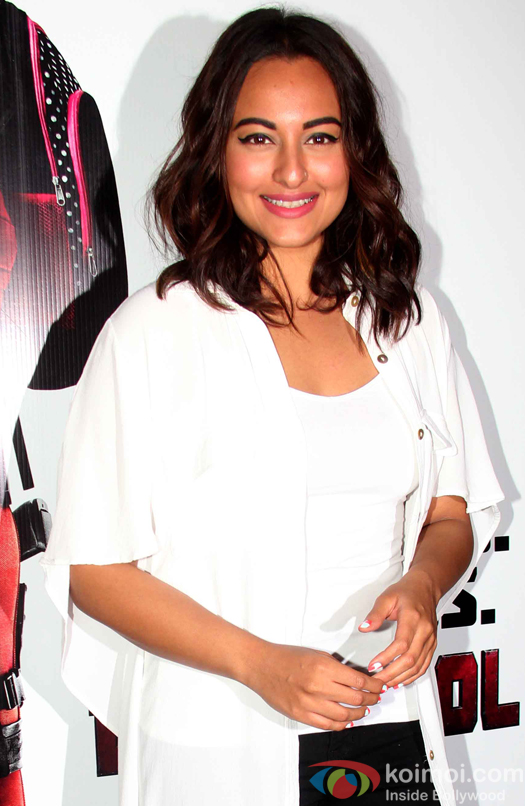 Sonkshi Sinha during the screening of hollywood movie Deadpool