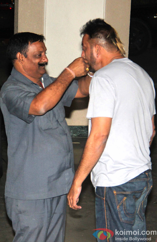Sanjay Dutt at his residence