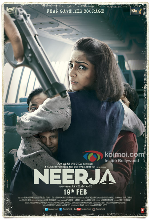 Sonam Kapoor in a still from 'Neerja' movie poster