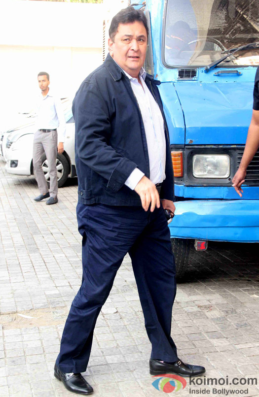 Rishi kapoor during the trailer launch of film Kapoor and Sons