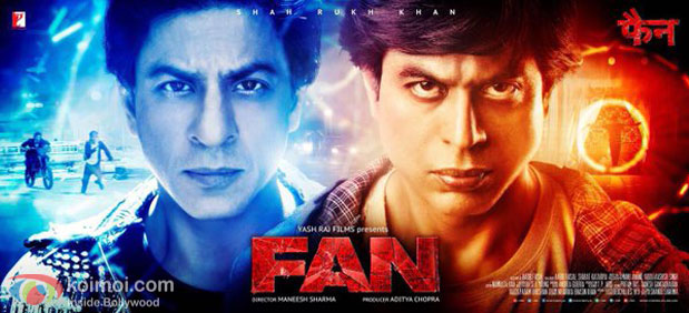 Shah Rukh Khan in a still from Fan movie poster