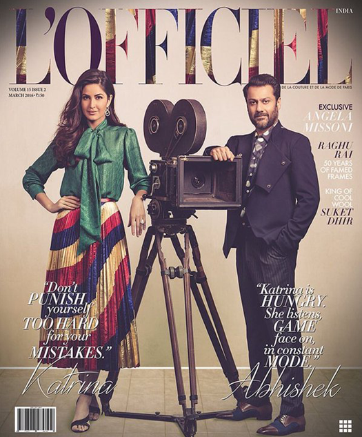 Katrina Kaif and Abhishek Kapoor on L'Officiel Cover