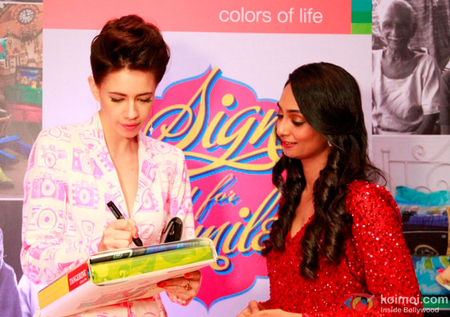 Kalki Koechlin during the event to help India's old folks by Tangerine