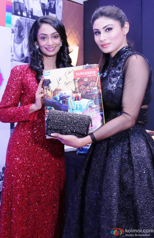 Mouni Roy during the event to help India's old folks by Tangerine
