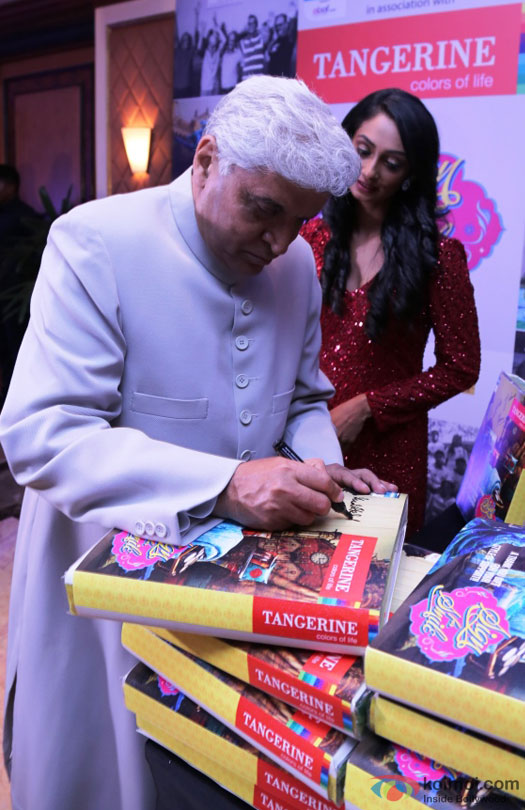 Javed Akhtar during the event to help India's old folks by Tangerine