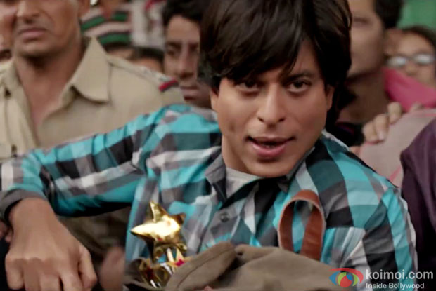 Shah Rukh Khan in a still from Fan