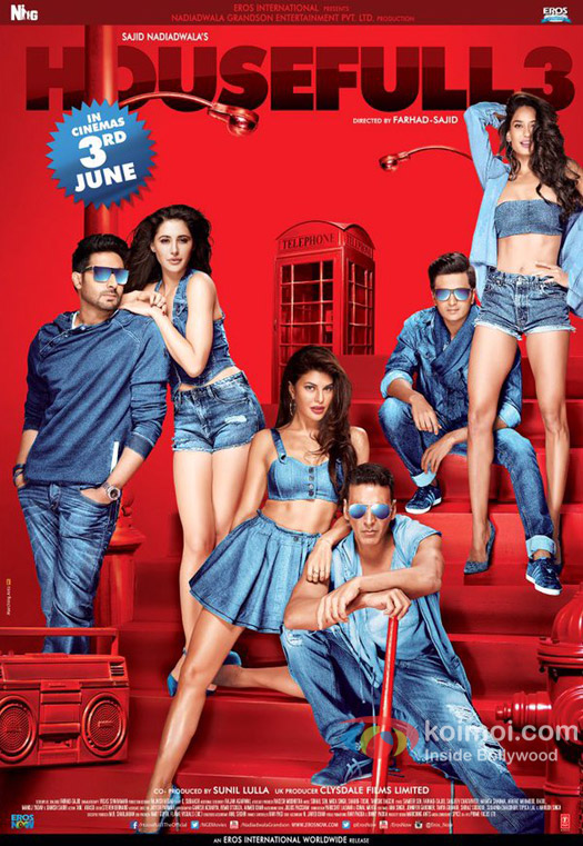 HOUSEFULL 3 (2016) – 720p – UpScaled – DesiSCR- Rip – Hindi – x264 – MP3 – Mafiaking – M2Tv 1Gb