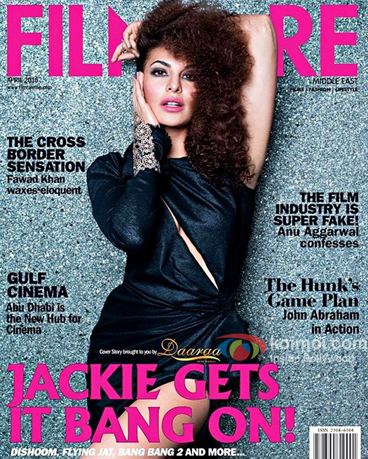 Jacqueline Fernandez on the cover of Filmfare