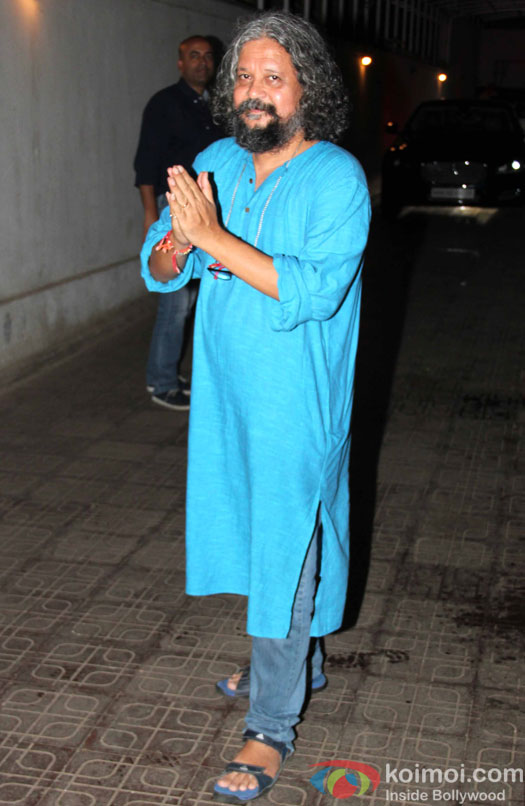 Amole Gupte during a party hosted by Karan Johar