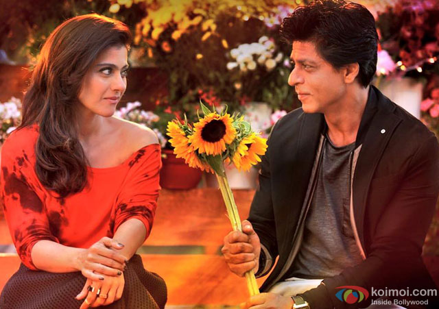 Kajol and Shah Rukh Khan in a still from movie 'Dilwale'