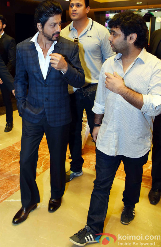 Shahrukh Khan and Maneesh Sharma During the Promotion of Fan