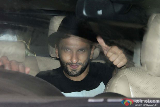 Ranveer Singh during the Special Screening of Fan at YRF Studios
