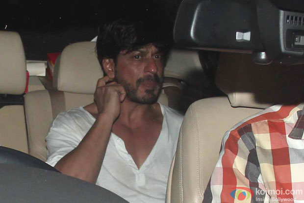Shah Rukh Khan during the Special Screening of Fan at YRF Studios