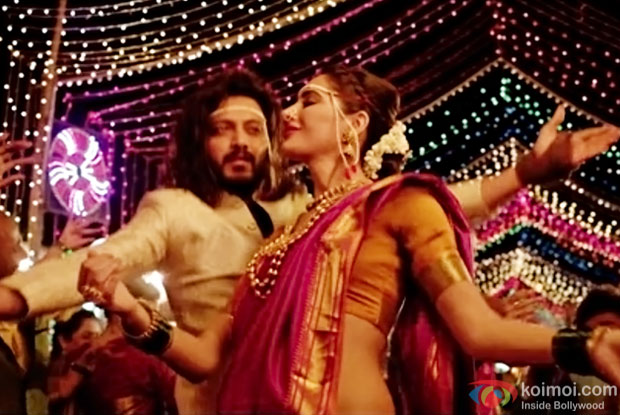 Riteish Deshmukh and Nargis Fakhri in a still from Banjo