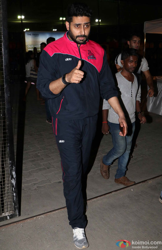 Abhishek Bachchn spotted during the Football Match at Bandra