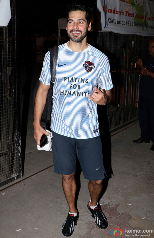 Dino Morea spotted during the Football Match at Bandra