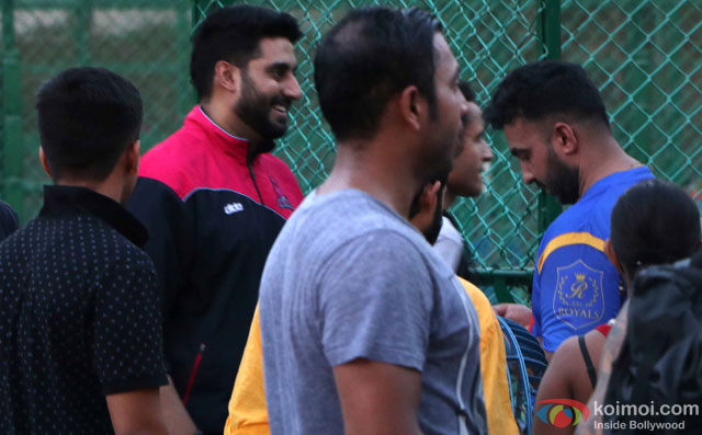 Abhishek Bachchan spotted during the Football Match at Bandra