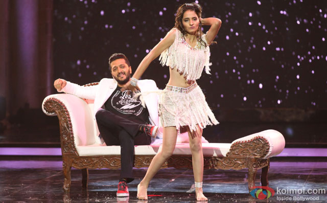 Riteish Deshmukh during the promotion of film 'Housefull 3' on the sets of 'India's Got Talent'
