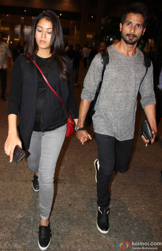 Shahid Kapoor And Mira Rajput Spotted At Mumbai Airport