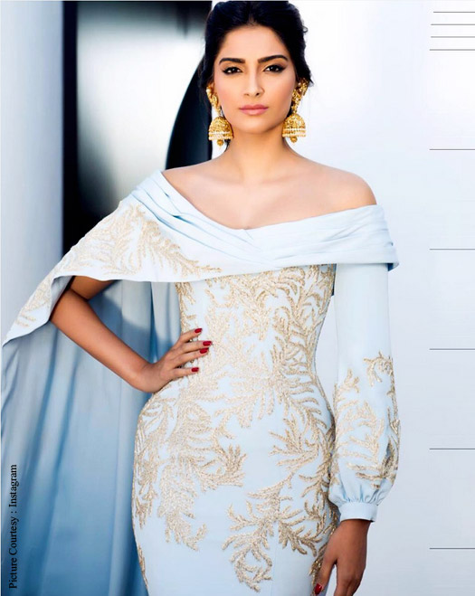 Sonam Kapoor's 'Golden Jhumkas' Stole The Show At amfAR Gala