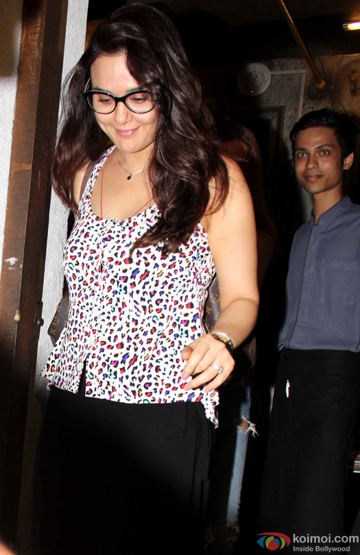 Preity Zinta Spotted At The Korner House
