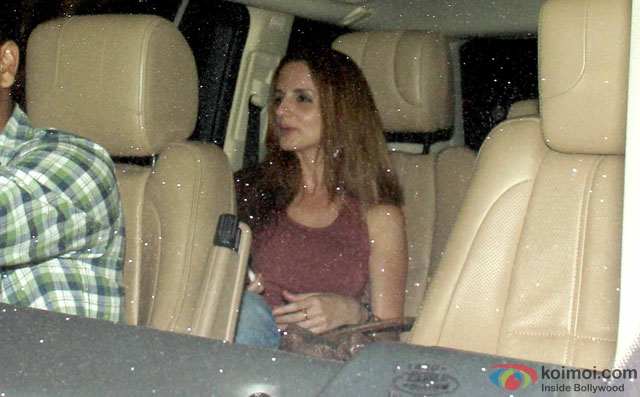 Sussanne Khan Spotted At The Korner House