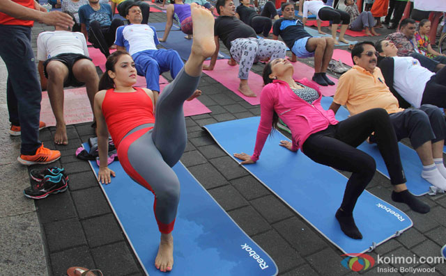 Rashmi Nigam during the International Yoga day