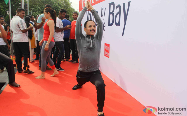 Mickey Mehta during the International Yoga day