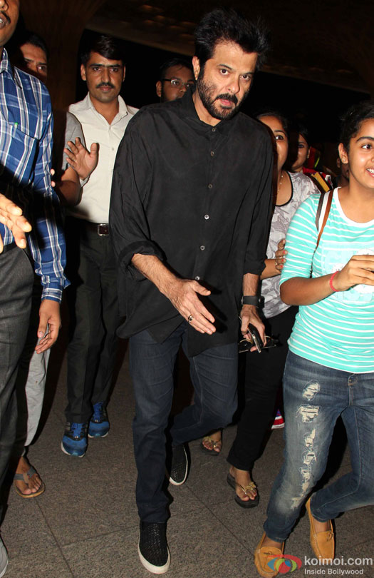 Anil Kapoor at airport leave for IIFA 2016