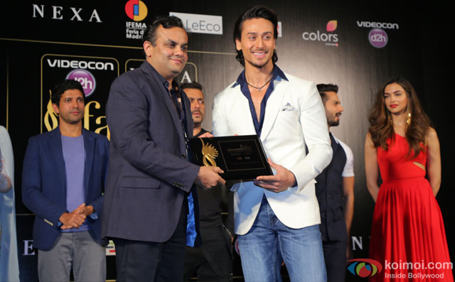 Tiger Shroff during the 'IIFA 2016 Opening Press Conference'