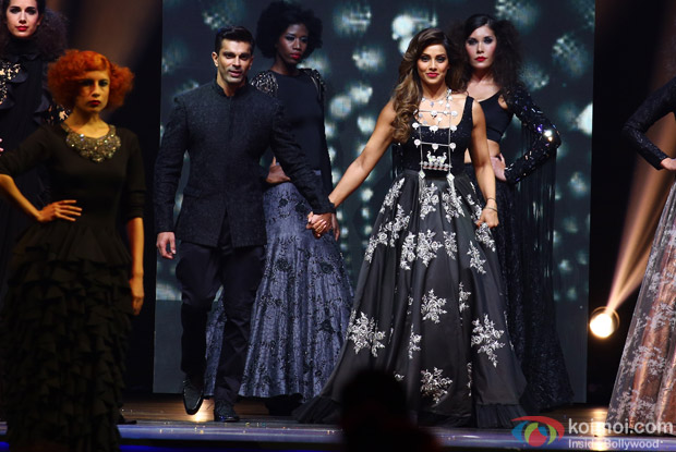Karan Singh Grover and Bipasha Basu at IIFA Rocks 2016