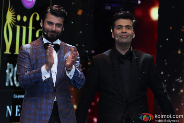 Fawad Khan and Karan Johar at IIFA Rocks 2016