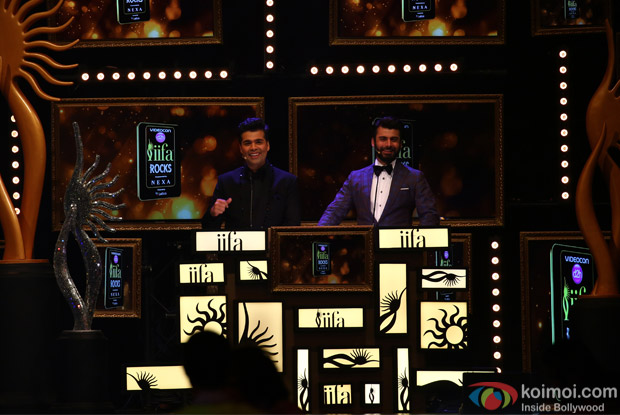 Karan Johar and Fawad Khan at IIFA Rocks 2016