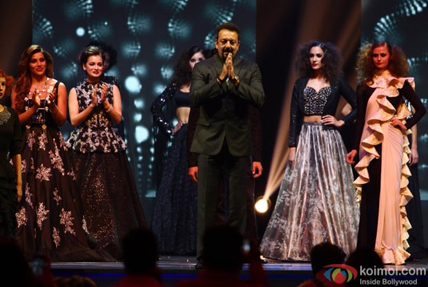 Bipasha Basu, Diya Mirza and Sanjay Dutt at IIFA Rocks 2016