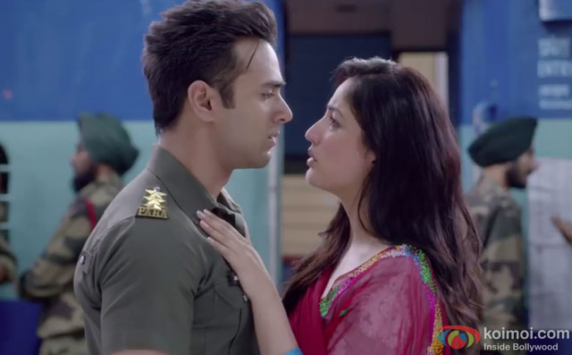 Pulkit Samrat and Yami Gautam in a still from movie 'Junooniyat'
