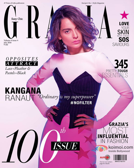Kangana Ranaut on Grazia Magazine Cover