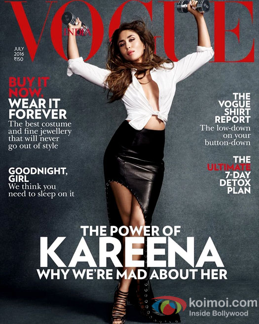 No Baby Bump; Only Hotness: Kareena Kapoor's Sexy Vogue Cover