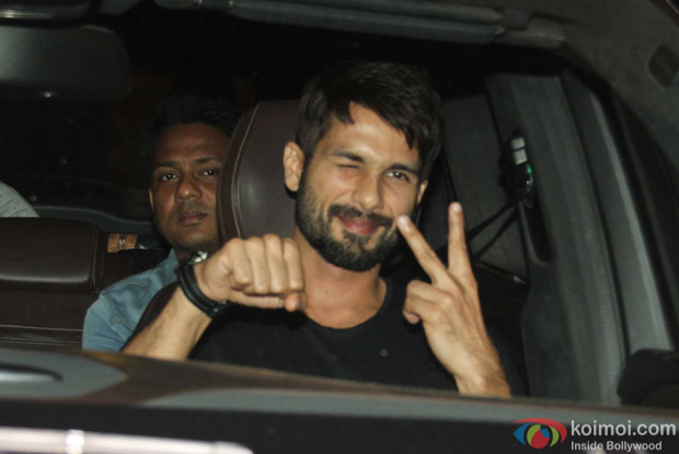 Shahid kapoor at Karan Johar's House