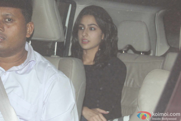 Sara Khan at Karan Johar's House